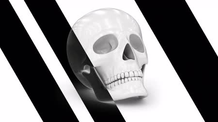 psyche : Skull. Looping footage has 4K resolution. Prores 4444. 3D Illustration. Stock Footage