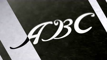 определение : ABC in the page. Negative image. Looping footage has 4K resolution.