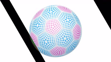 simülasyon : Soccerball. Looping footage has 4K resolution. Prores 4444. Stok Video
