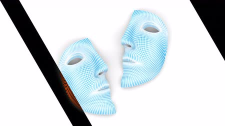 mesh : Mask. Looping footage has 4K resolution. Prores 4444. 3D Illustration.