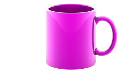 caneca : The mug. Looping footage has 4K resolution and alpha channel. Prores 4444. 3D Illustration.