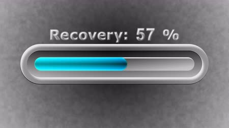 herstel : Process of Recovery in the screen. 4K Resolution. Prores 4444. Illustration.