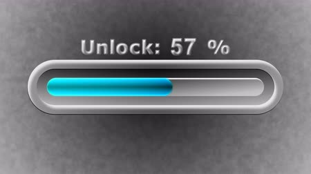 unlocking : Process of Unlock in the screen. 4K Resolution. Prores 4444. Illustration. Stock Footage