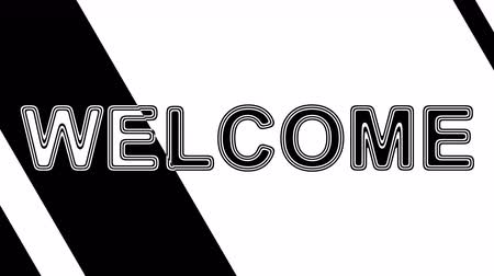cabeçalho : Welcome. Looping footage has 4K resolution. Illustration. Vídeos