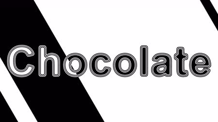 amargo : Chocolate. Looping footage has 4K resolution. Illustration. Stock Footage