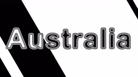 nationality : Australia. Looping footage has 4K resolution. Illustration. Stock Footage