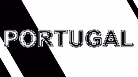 plakat : Portugal. Looping footage has 4K resolution. Illustration.