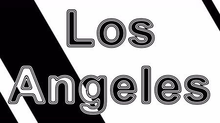 poszter : Los Angeles. Looping footage has 4K resolution. Illustration.