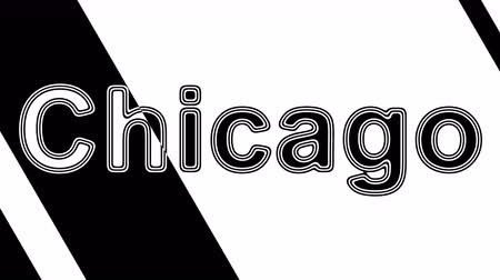 naam : Chicago. Looping footage has 4K resolution. Illustration.