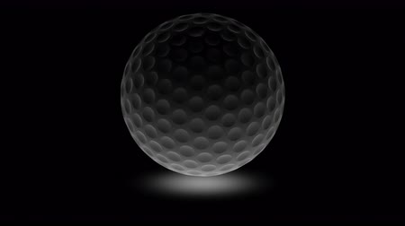 dairesel : Golfball. Looping footage has 4K resolution. Prores 4444. 3D Illustration. Stok Video