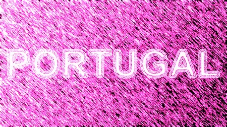 poszter : Portugal. Looping footage has 4K resolution. Prores 4444. Illustration.