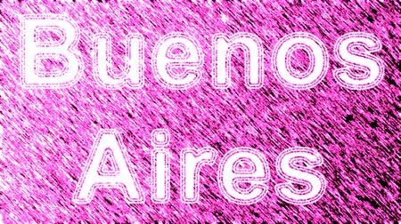 aires : Buenos Aires. Looping footage has 4K resolution. Prores 4444. Illustration.