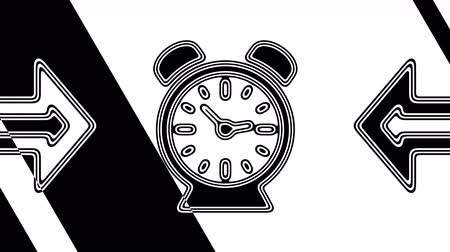 kleszcz : The clock. Looping footage has 4K resolution. Illustration. Wideo
