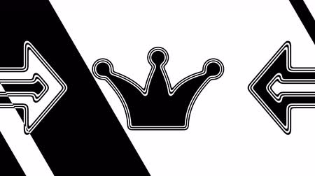 monarchy : The crown icon. Looping footage has 4K resolution. Illustration.