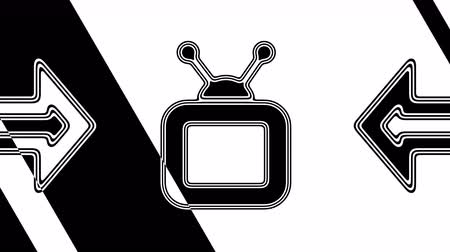 portátil : The TV icon. Looping footage has 4K resolution. Illustration.