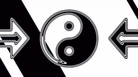 daoism : The ying-yang icon. Looping footage has 4K resolution. Illustration. Stock Footage