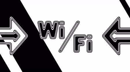 url : The Wi-Fi icon. Looping footage has 4K resolution. Illustration.
