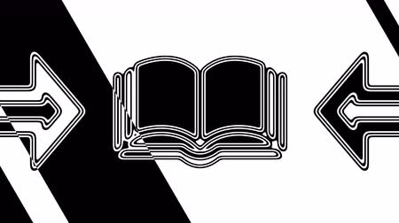 literatura : The book icon. Looping footage has 4K resolution. Illustration.