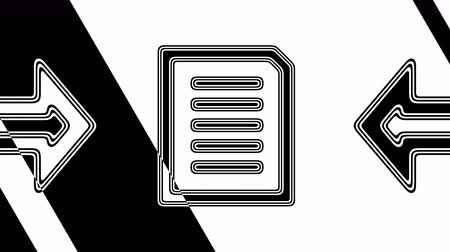 letter board : The text icon. Looping footage has 4K resolution. Illustration.