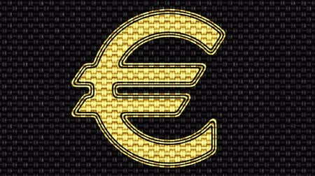 eur : Euro icon. Looping footage. Illustration. Dostupné videozáznamy