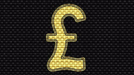 pound : Pound icon. Looping footage. Illustration. Stock Footage