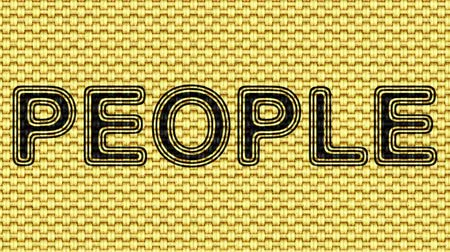 編み物 : People. Looping footage. Illustration. 動画素材
