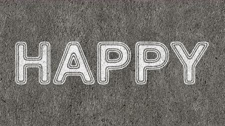idéia genial : Happy. Looping footage has 4K resolution. Prores 4444. Vídeos