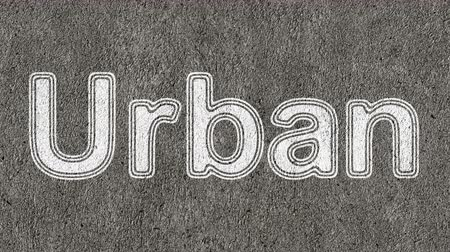 hrubý : Urban. Looping footage has 4K resolution. Prores 4444.