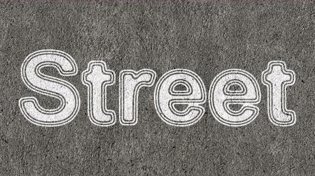 paving : Street. Looping footage has 4K resolution. Prores 4444.