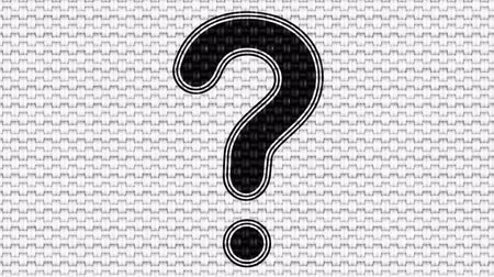 know : Question mark. Looping footage. Illustration. Stock Footage