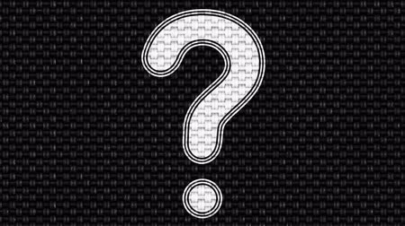 perguntando : Question mark. Looping footage. Illustration. Stock Footage
