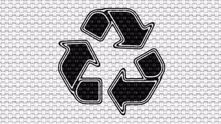 hímzés : Recycle icon. Looping footage. Illustration.