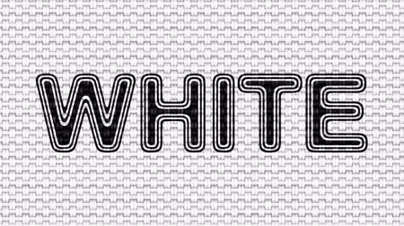 oposto : White. Looping footage. Illustration.