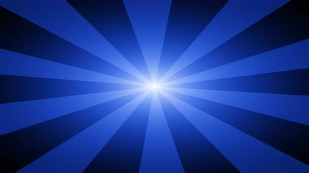 oneindig : Blue abstract background with rays. Looping footage with Prores 4444 and 4K resolution. Stockvideo