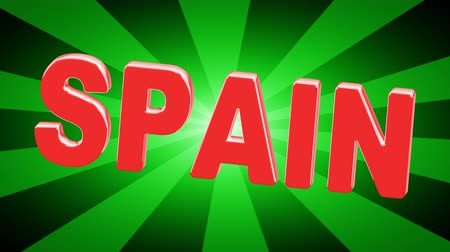 タイプスクリプト : Spain. Looping footage has 4K resolution. Illustration.