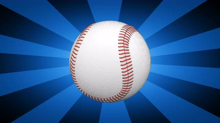 beisebol : The baseball. Looping footage has 4K resolution. 3D Illustration.