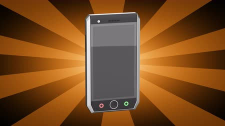 тачпад : Smartphone. Looping footage has 4K resolution. 3D Illustration.