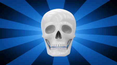 psiche : The skull. Looping footage has 4K resolution. 3D Illustration.