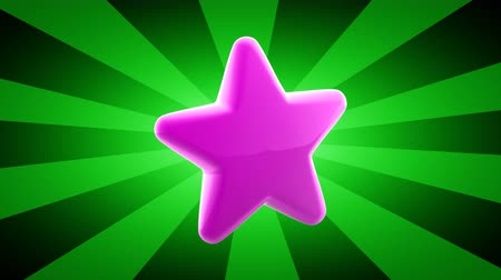yargı : Star icon. Looping footage has 4K resolution. 3D Illustration.