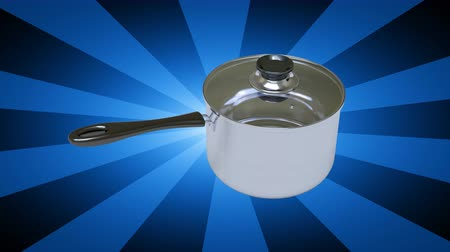 lids : The pan. Looping footage has 4K resolution. 3D Illustration.