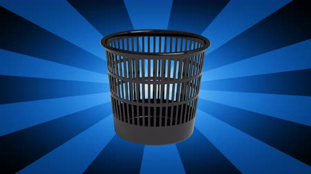 discard : The wastebasket. Looping footage has 4K resolution. 3D Illustration. Stock Footage