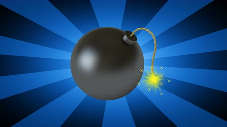 ter cuidado : The bomb. Looping footage has 4K resolution. 3D Illustration.