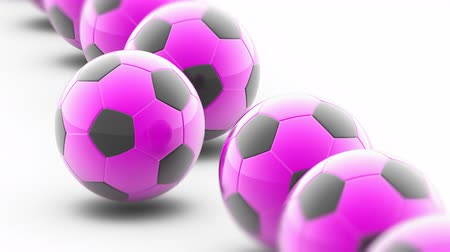 attainment : Soccerball in white background. 3D Illustration. Stock Footage