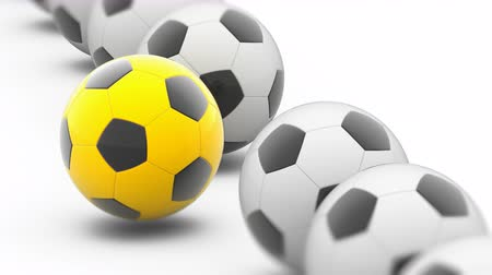 ambition : Soccerball in white background. 3D Illustration. Stock Footage
