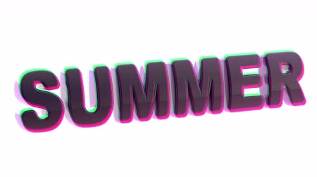 planlamacı : Summer. Looping footage. 3D Illustration. Stok Video
