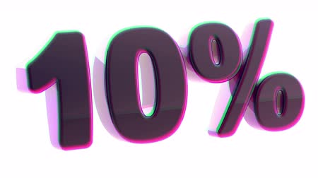 por cento : Discount. Looping footage. 3D Illustration. Stock Footage