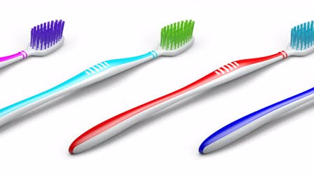 туалетные принадлежности : No trademarks. My own design of toothbrush. Looping footage. 3D Illustration.