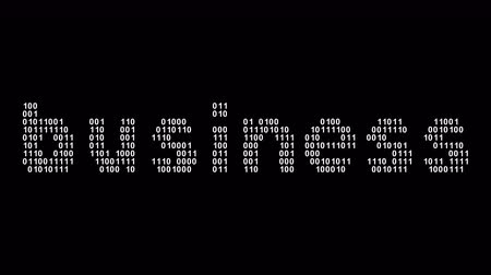 Business. Binary code in the screen. Looping footage. Illustration.