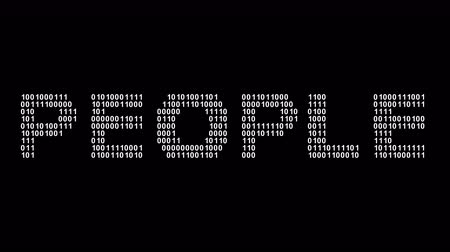 People. Binary code in the screen. Looping footage. Illustration. Stok Video