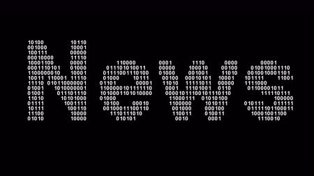 News. Binary code in the screen. Looping footage. Illustration.